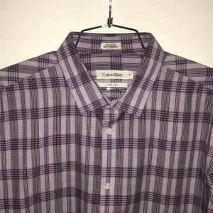 Calvin Klein - M Dress Shirt - Lavender/Purple